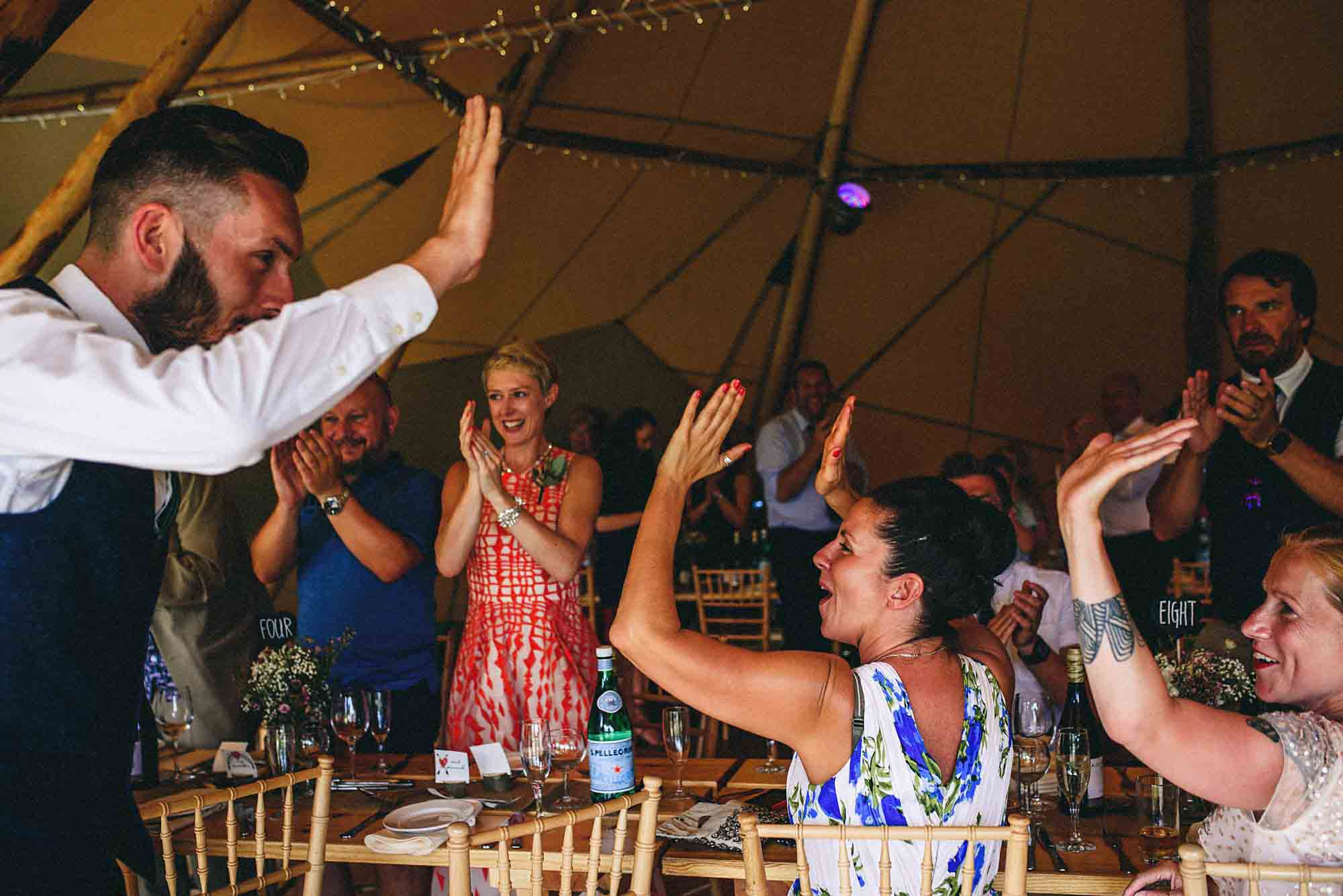 Leicestershire Tipi Festival Wedding