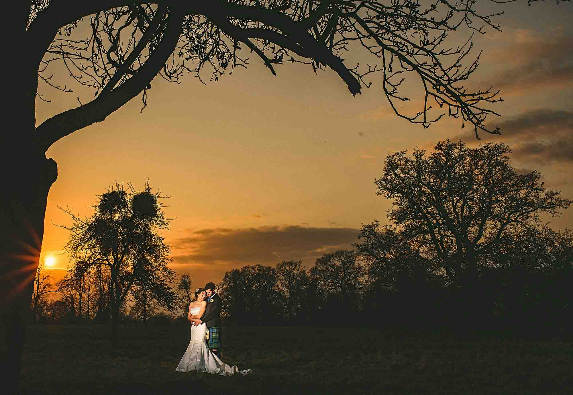 Elmore Court Wedding Sunset Photo