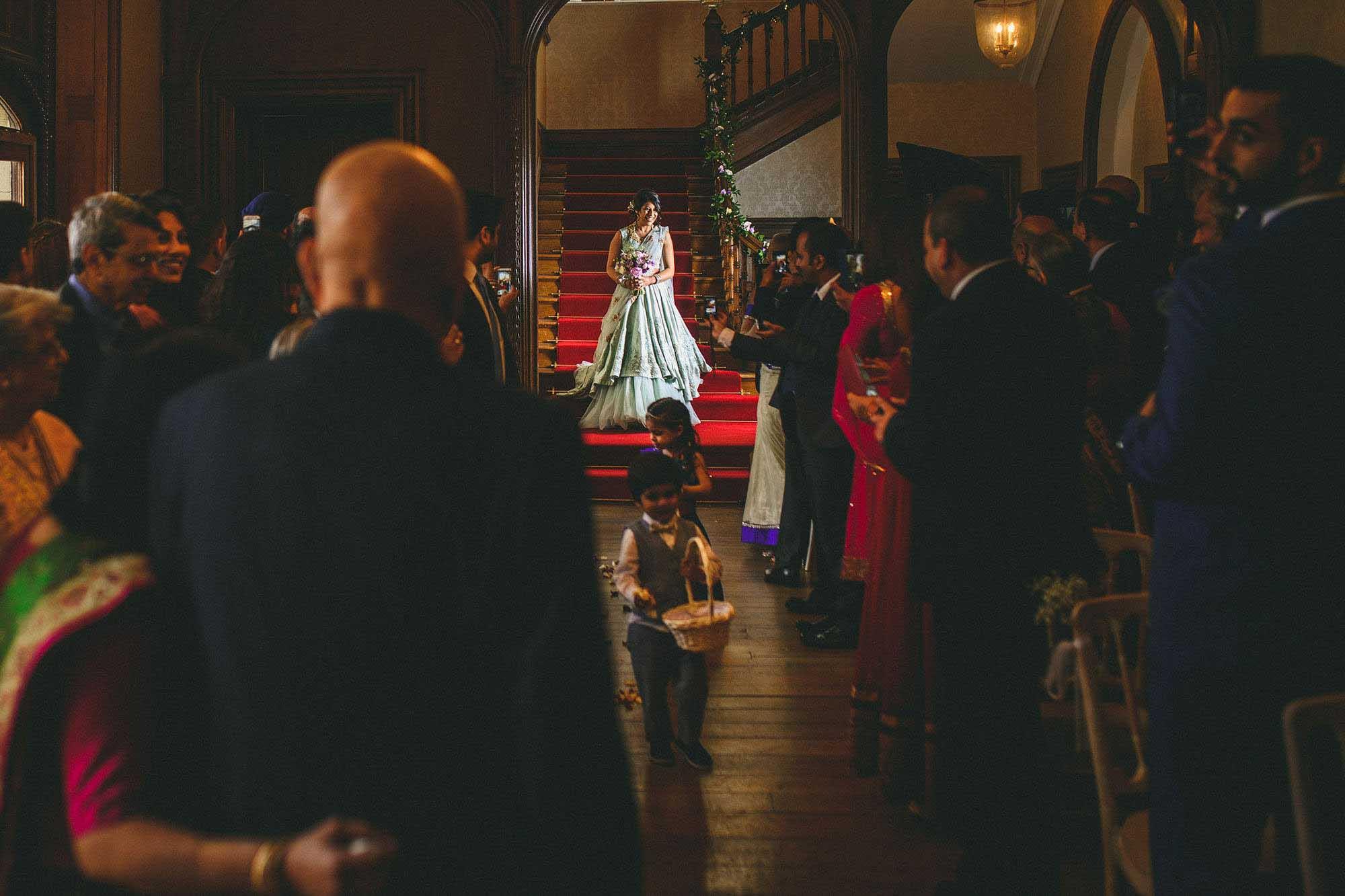 Froyle Park Wedding Photo Bride Entrance