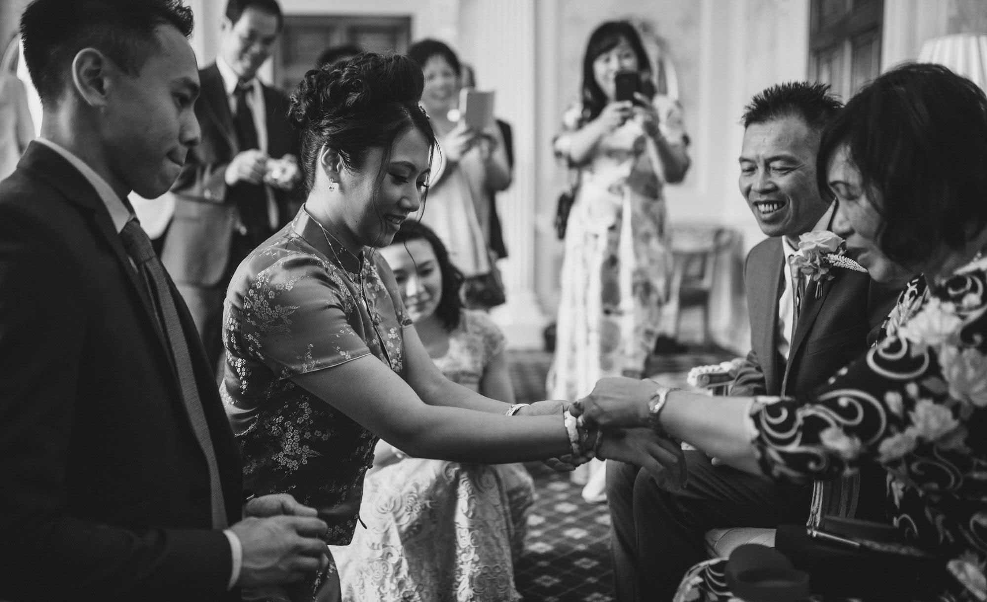 Bride in Chinese Tea Ceremony at Hedsor House