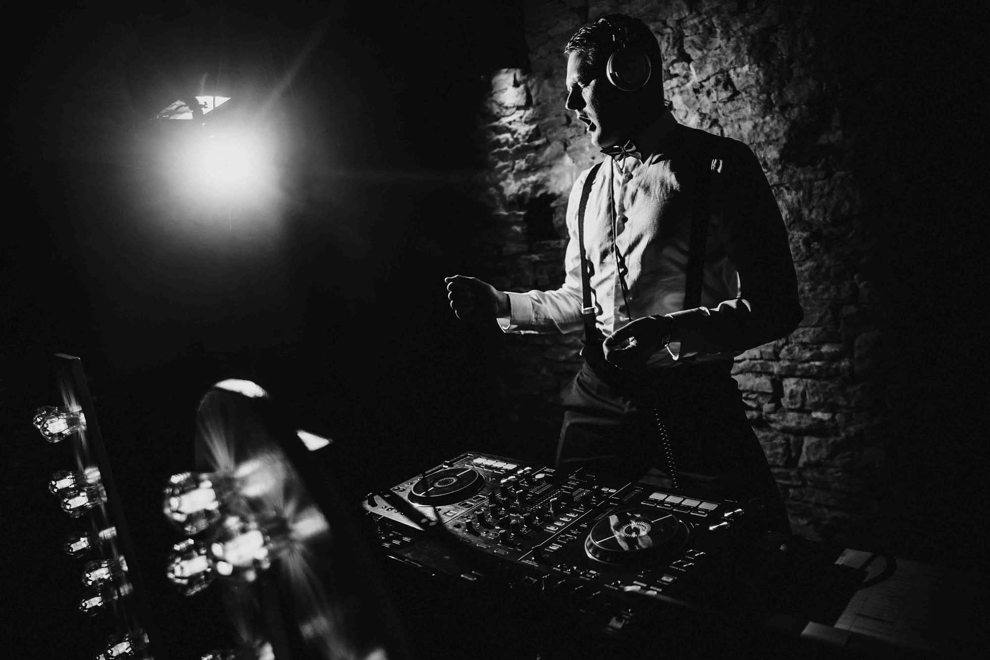 DJ at Cripps Barn Wedding Photo