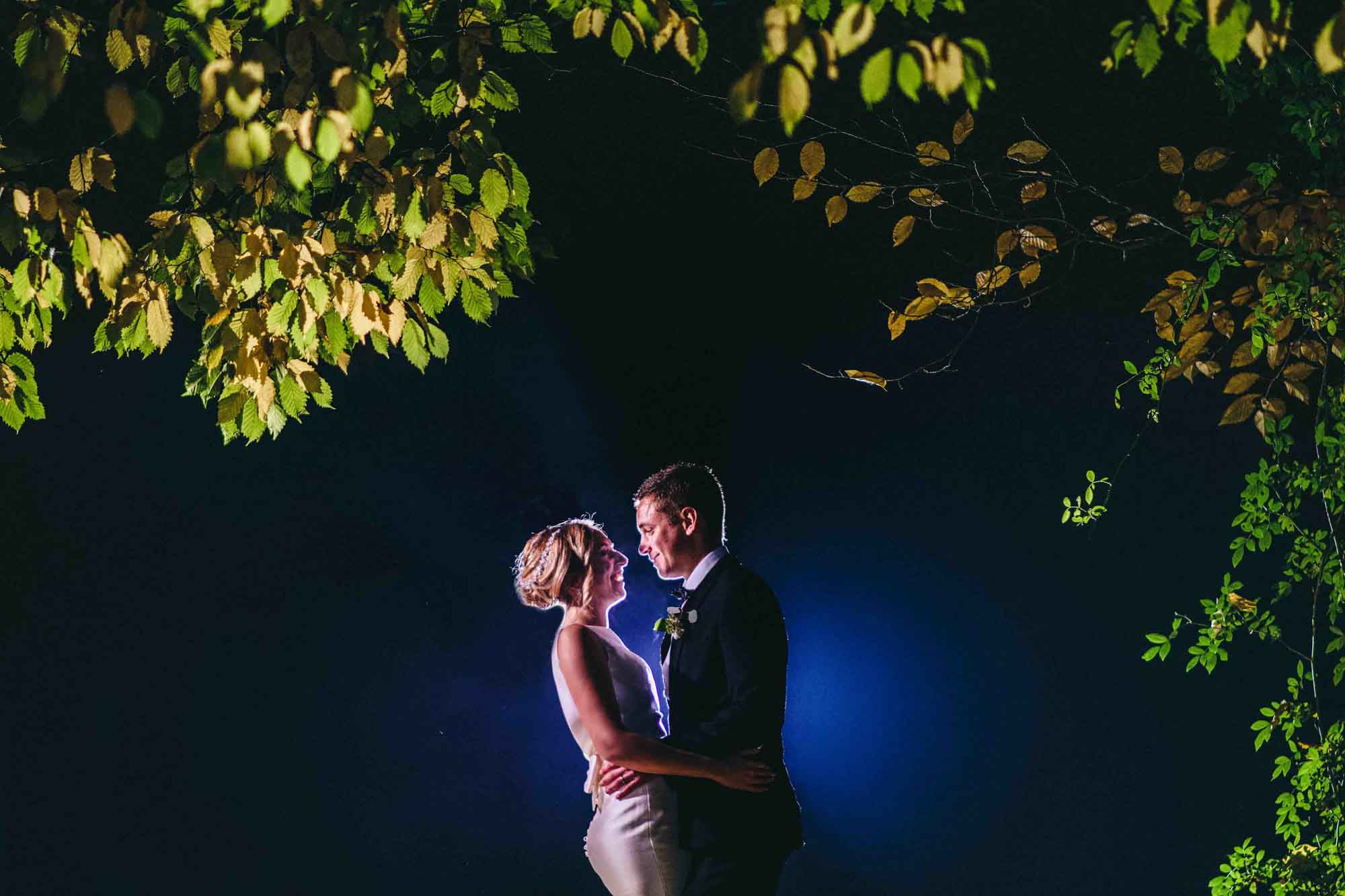 Photo in the dark at Cripps Barn Wedding Photo
