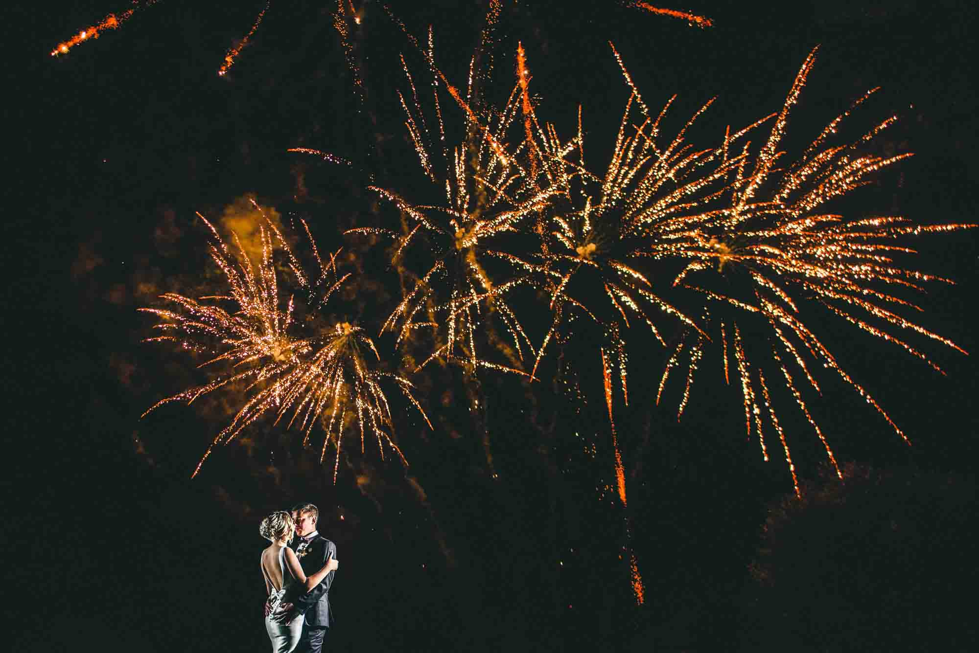 Photo Of Fireworks at Cripps Barn Wedding