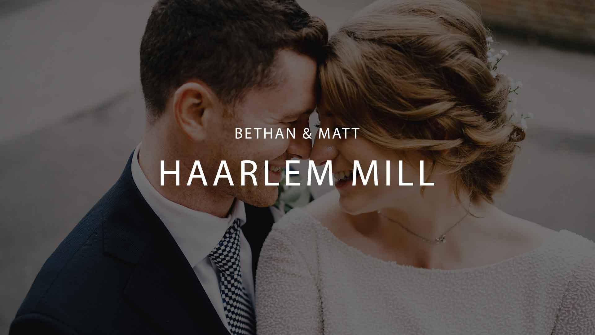 Haarlem Mill Wedding Photography